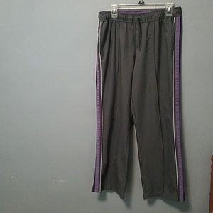 Grey and Purple Athletic Pants
